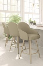 Amisco Weston Swivel Stool for Traditional or Contemporary Kitchens