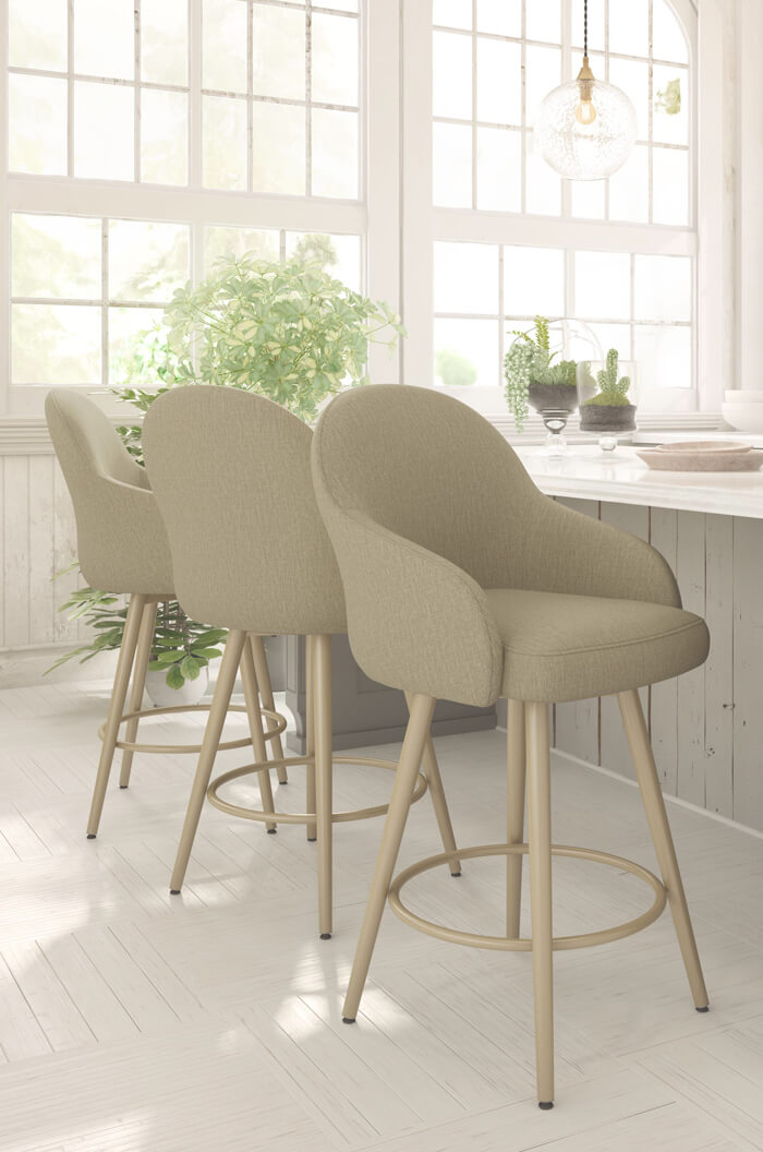 Buy Amisco Weston Swivel Bar Stool W Back Amp Arms Free