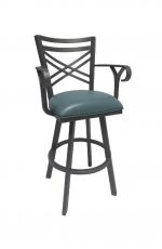 Callee Rebecca Swivel Stool with Straight Legs and Arms