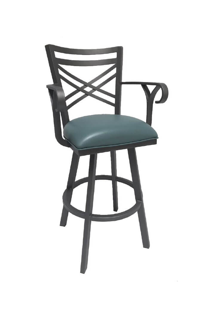 Buy Callee S Rebecca Swivel Bar Stool W Cross Back Free