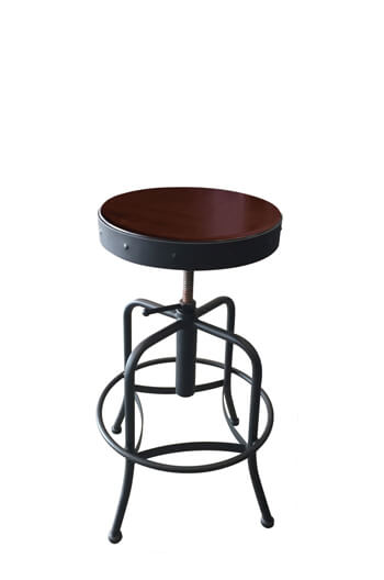 Ty Backless Adjustable Screw Stool