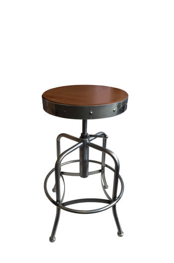 910 Backless Adjustable Industrial Swivel Stool By