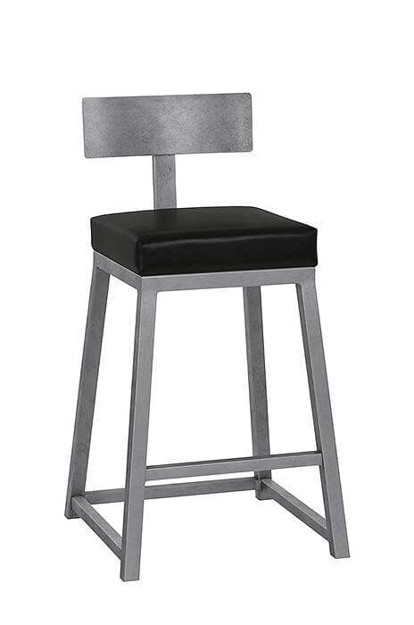 Wesley Allenu0027s Pismo Modern Bar Stool With Back, Square Seat And Square  Sled Base ...