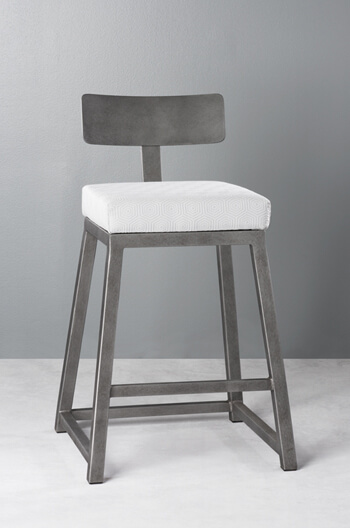 Wesley Allen's Pismo Modern Stool with Angular Base