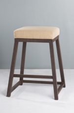 Wesley Allen Riverton Backless Stool with Thick Iron Angular Base