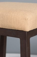 Riverton Backless Stool with Aged Rust metal finish and Fabric seat cushion