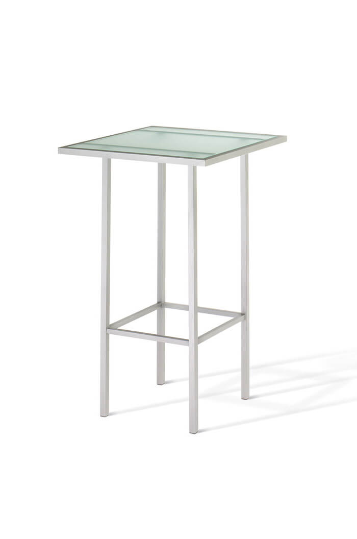 Aden Pub Table with Frosted Glass Tabletop