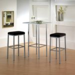 Amisco's Bradley Backless Stools with the Aden Pub Table