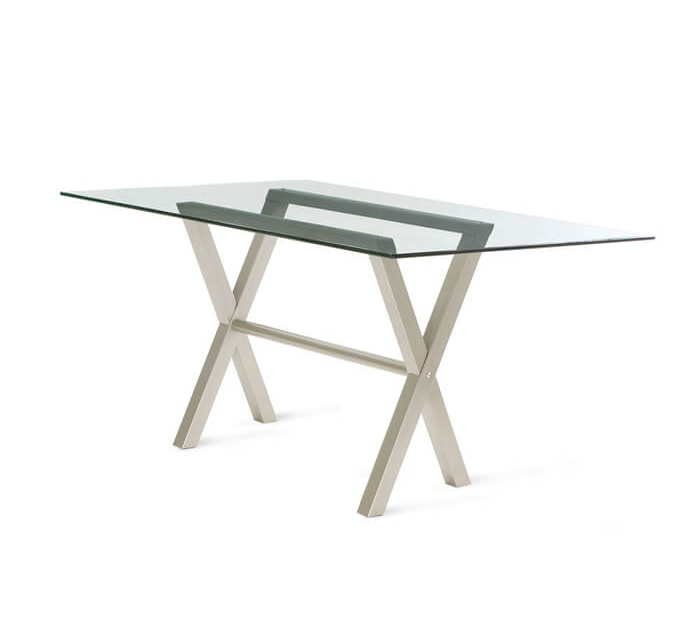 Andre Dining Table with Rectangular Glass Top