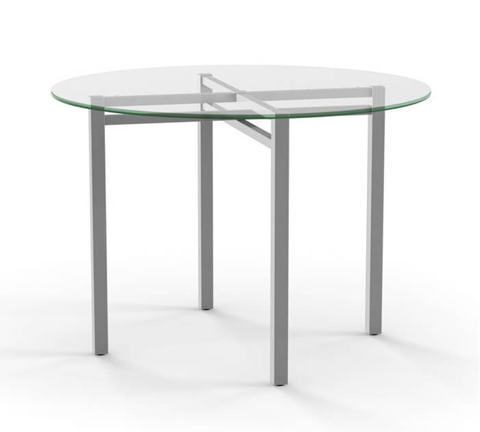 Carrefour Round Glass Dining Table