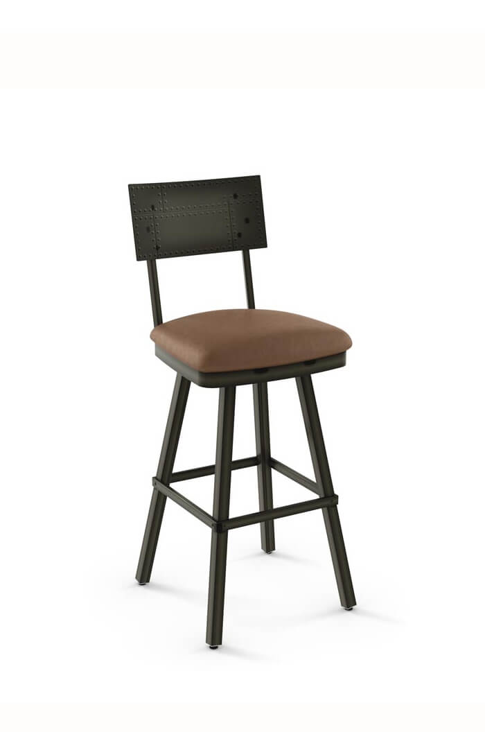 Amisco Jetson Swivel Stool W Seat Cushion Free Shipping