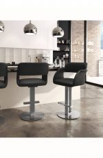 Amisco Positano Swivel Stool in Modern Kitchen