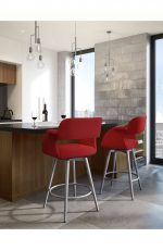 Amisco Sorrento Swivel Stool for Modern Kitchens