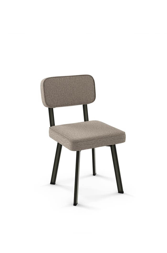 amisco brixton metal dining chair with padded back and seat