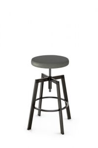 Amisco Architect Backless Screw Stool with Seat Cushion