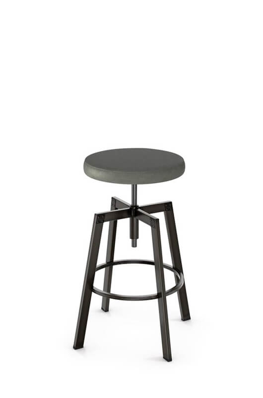Architect Backless Screw Stool with Cushion