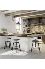 Amisco Architect Adjustable Stool in Modern Industrial Kitchen