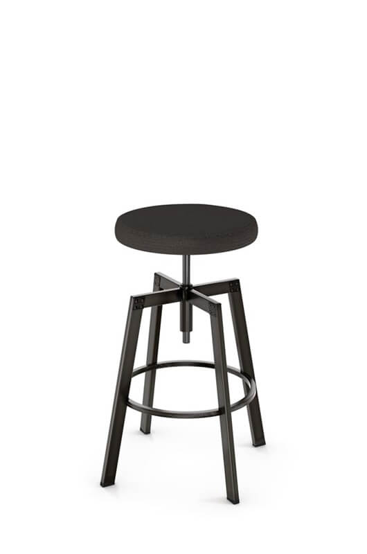Amisco Architect Backless Screw Stool W Cushion Free