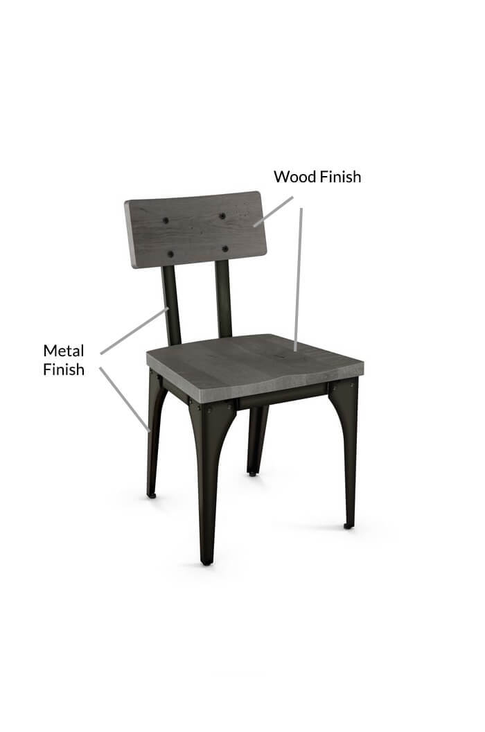 Amisco Architect Dining Chair w Wood Seat and Back Free shipping – Metal Frame Dining Chairs