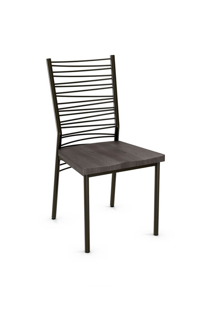 Amisco Crescent Dining Chair W Wood Seat Free Shipping