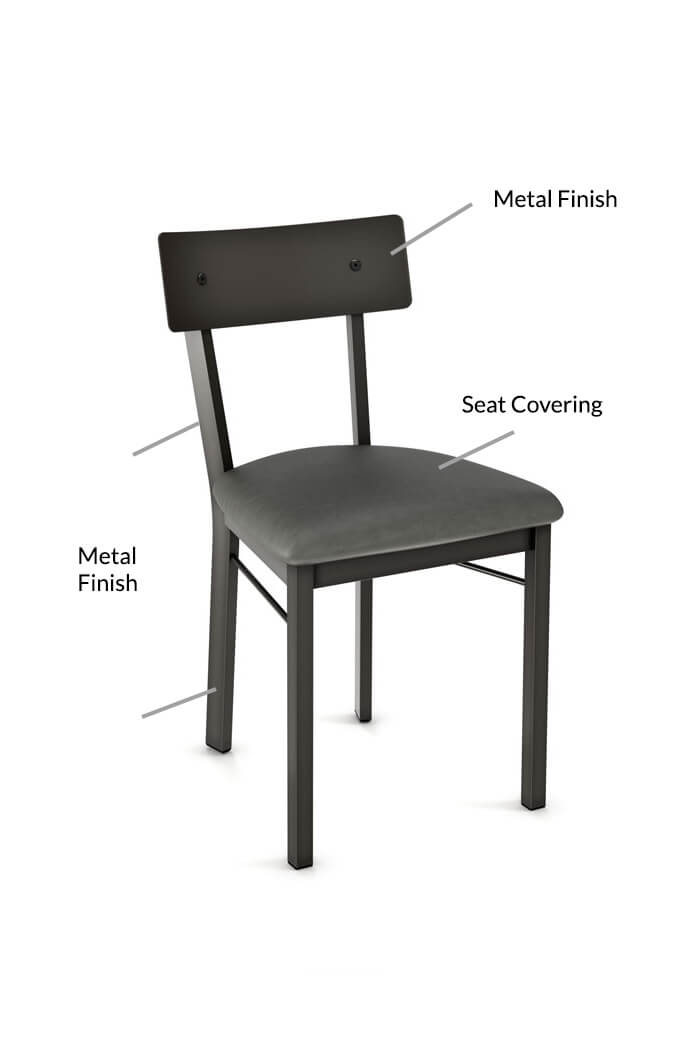 Amisco Lauren Metal Dining Chair Customize Amiscou0027s Lauren Dining Chair  sc 1 st  Barstool Comforts & Amisco Lauren Modern Industrial Dining Chair - Free shipping!