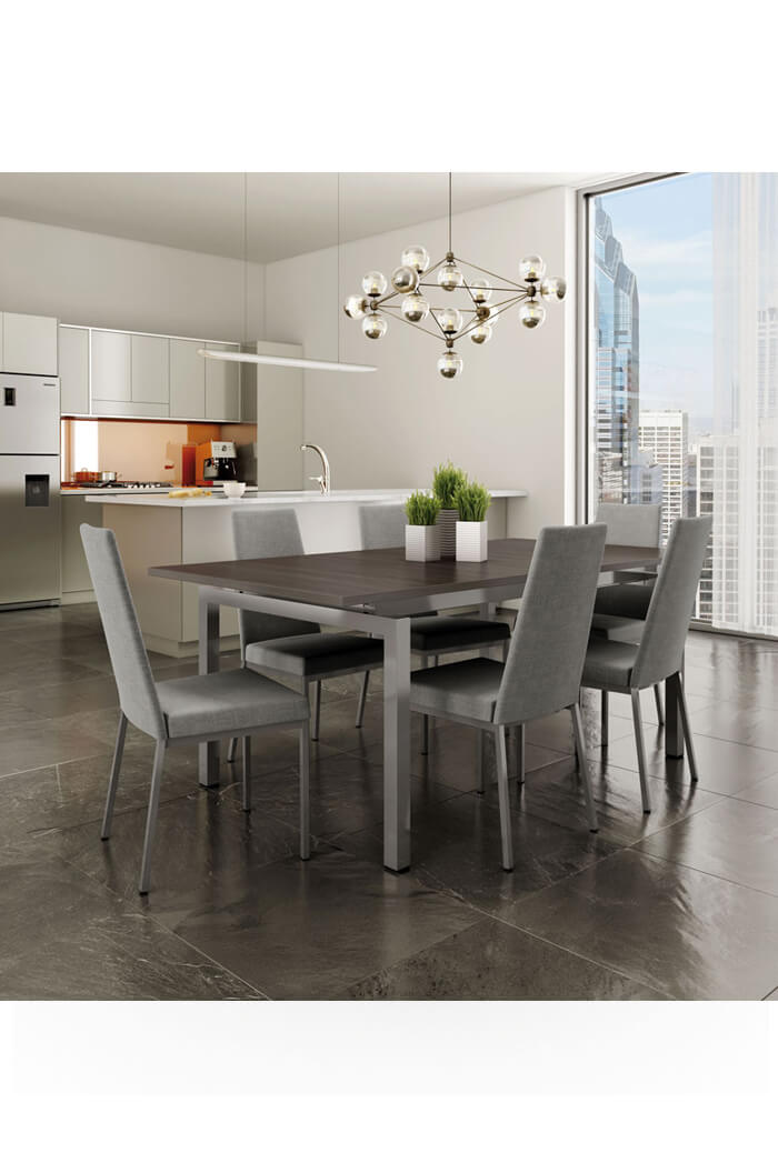 Metal Frame Dining Chairs amisco linea dining chair w/ high upholstered back - free shipping!