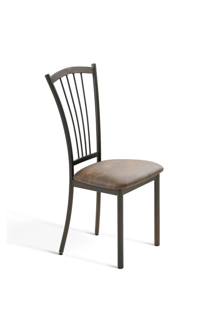 Metal Frame Dining Chairs amisco naomi simple dining chair w/ metal legs - free shipping!