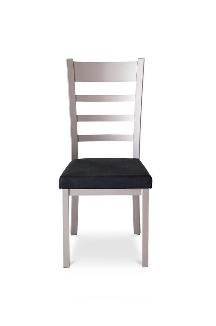 Amisco Owen Dining Chair with Metal Legs and Metal Backrest