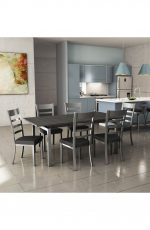 Amisco Owen Metal Dining Chair in Modern Kitchen Living Space