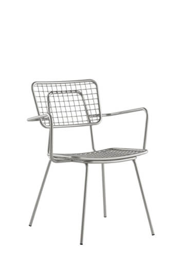 Opla Outdoor Armchair in Alloy Silver