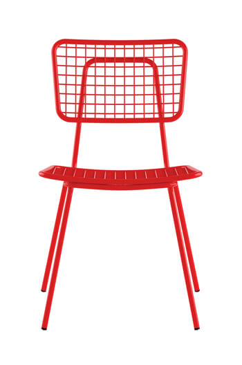 Gentil ... Grand Rapids Opla Armless Chair In Red ...