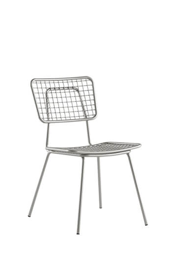 Opla Outdoor Chair in Alloy Silver