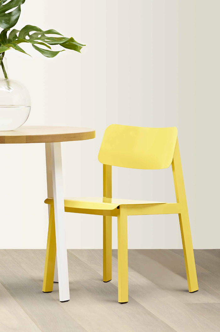 Grand Rapids Sadie Outdoor Modern Chair in Red Yellow More