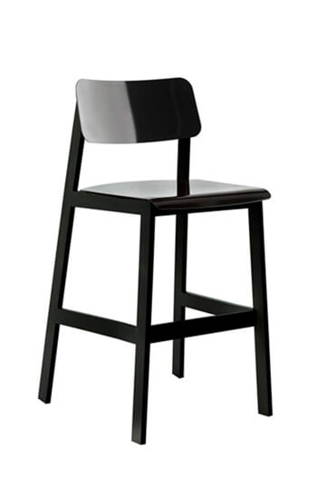 Grand Rapids Sadie Outdoor Stool with Stainless Steel Frame