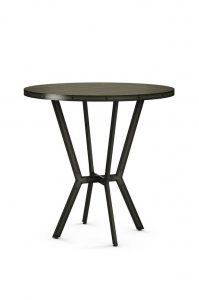 Amisco Norcross Metal Pub Table with Wood Top