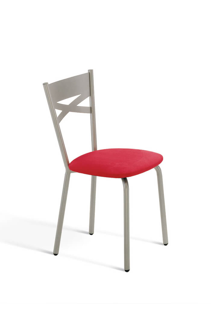Amisco Tommy Metal Dining Chair w Simple Back Design
