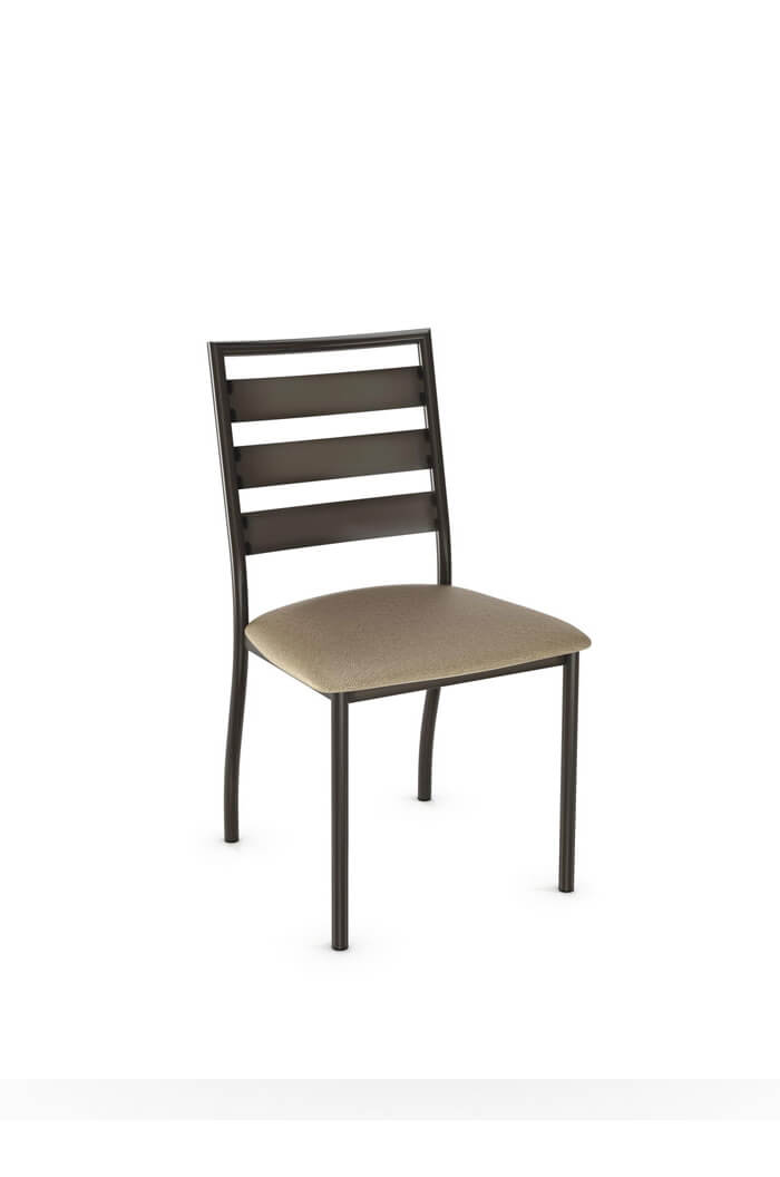 Amisco Tori Modern Armless Dining Chair W Metal Frame