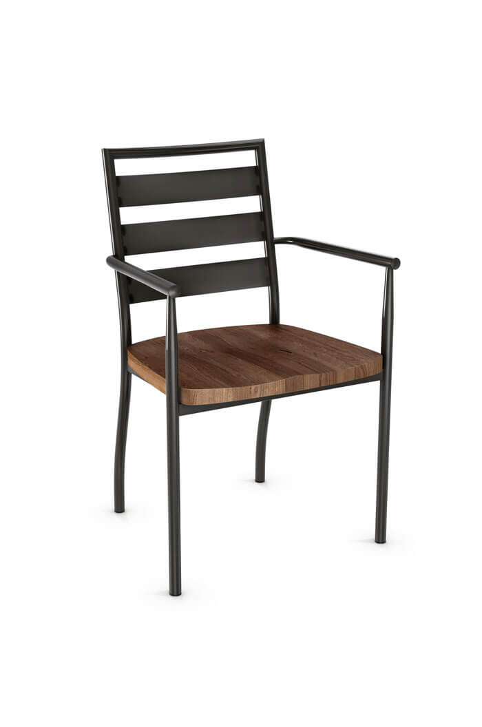 Amisco Tori Dining Armchair with Wood Seat