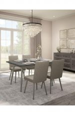 Amisco Webber Upholstered Dining Chair in Modern Comfortable Dining Room