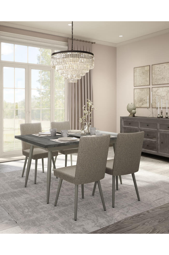 Take A Bite Out Of 24 Modern Dining Rooms: Amisco Webber Upholstered Dining Chair W/ High Back