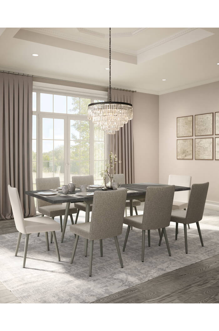 amisco webber upholstered dining chair in big dining room