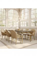 Amisco Weston Upholstered Dining Chair in Elegant Dining Room