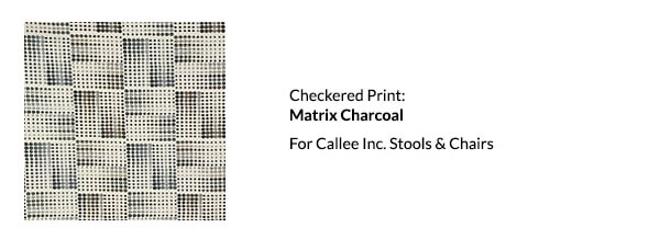 Callee Checkered Print Called Matrix Charcoal