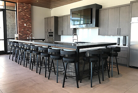 Russell Stool in Industrial Modern Kitchen