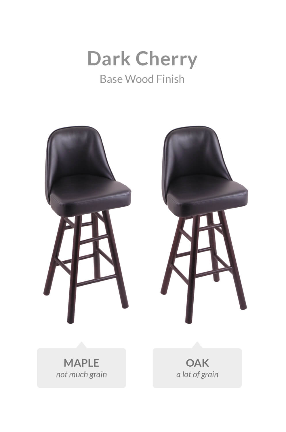 Holland Grizzly Hardwood Swivel Stool W Smooth Legs
