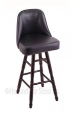 Holland Bar Stool Co. - Grizzly Domestic Hardwood Swivel Stool with Turned Legs