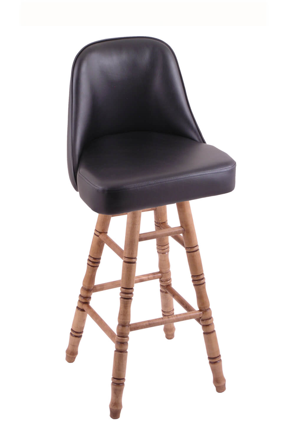 Holland Grizzly Hardwood Swivel Stool W Turned Legs