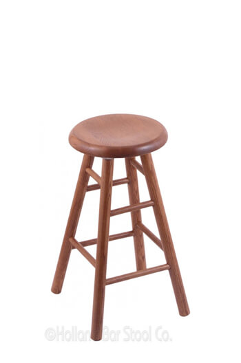 Saddle Dish Domestic Hardwood Backless Swivel Stool