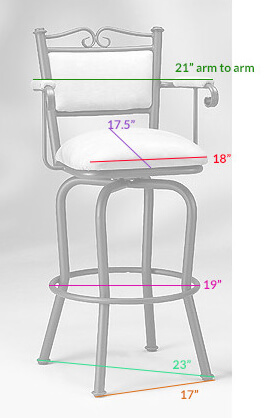 Stool Dimensions for the #5039 Stool