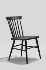 Grand Rapid's Hugh Windsor-Style Dining Chair in Black